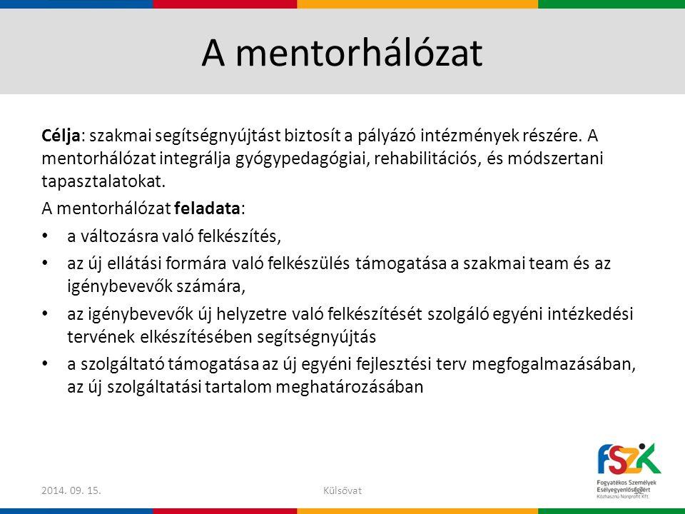 A mentorhálózat