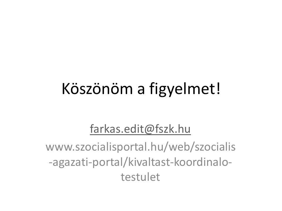 Köszönöm a figyelmet! farkas.edit@fszk.hu
