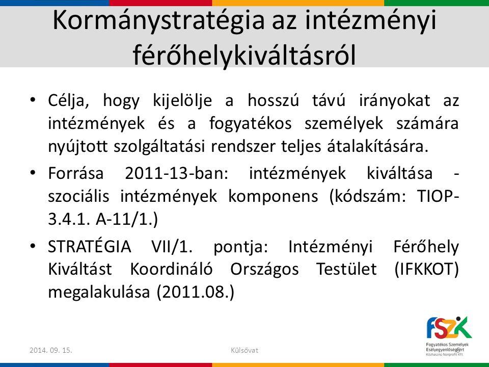 Kormánystratégia az intézményi férőhelykiváltásról