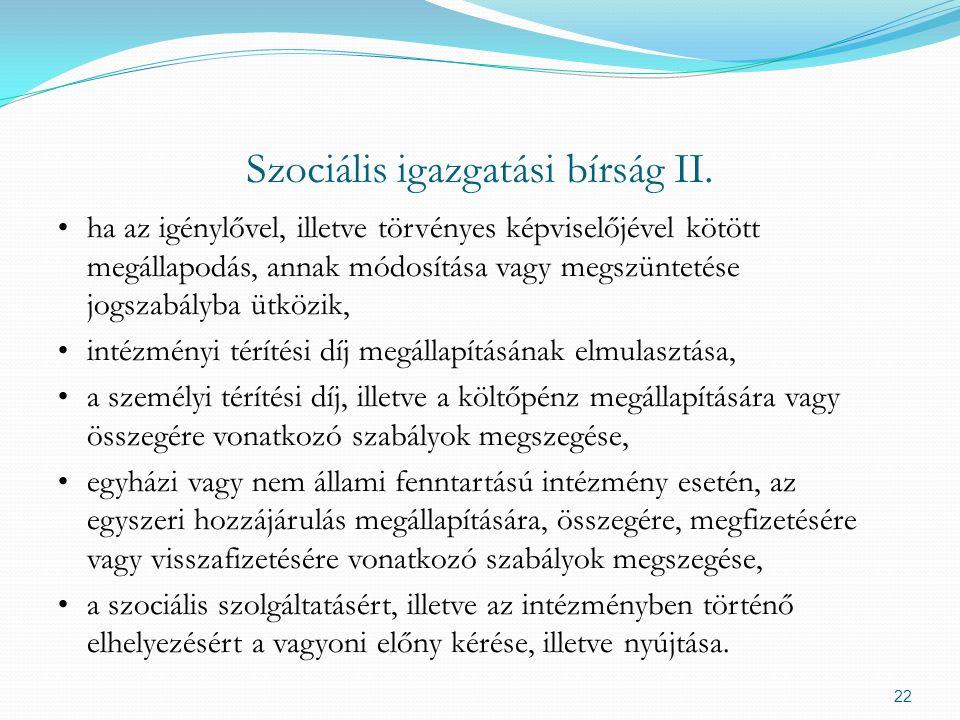 Szociális igazgatási bírság II.