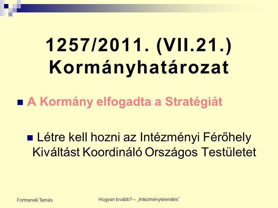 1257/2011. (VII.21.) Kormányhatározat