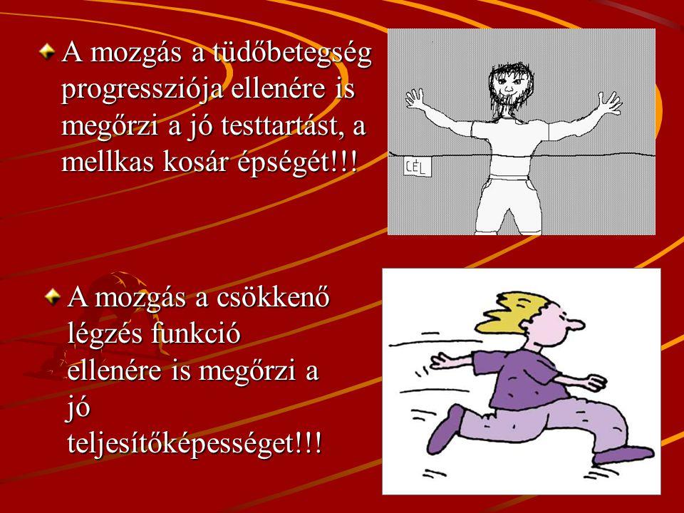 A mozgás a tüdőbetegség progressziója ellenére is megőrzi a jó testtartást, a mellkas kosár épségét!!!