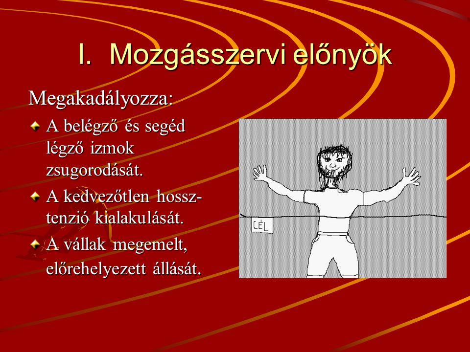 I. Mozgásszervi előnyök