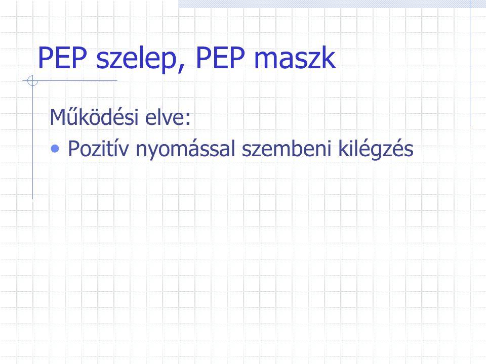 PEP szelep, PEP maszk Működési elve: