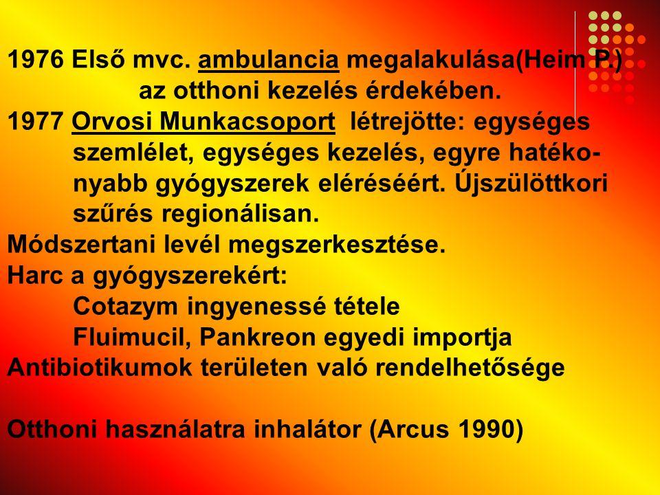 1976 Első mvc. ambulancia megalakulása(Heim P. )