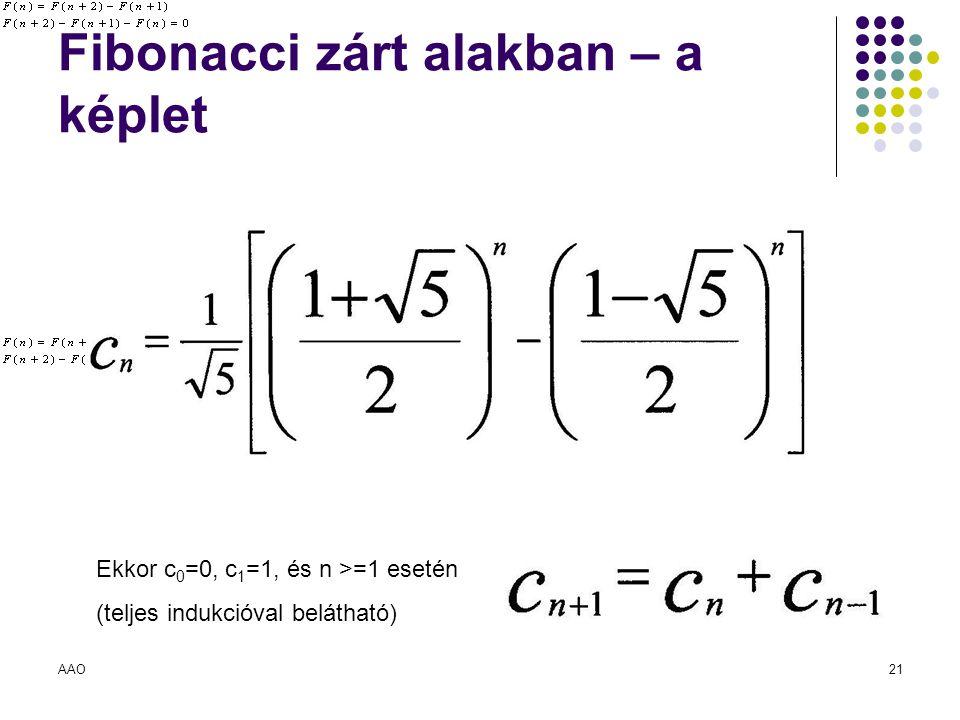 Fibonacci zárt alakban – a képlet