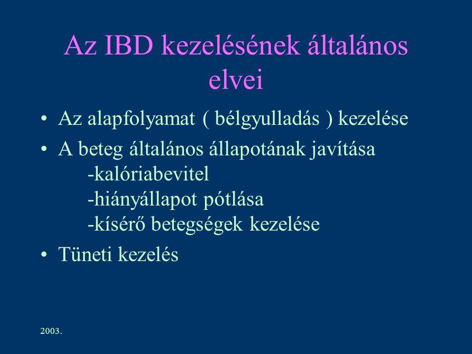 Az IBD kezelésének általános elvei