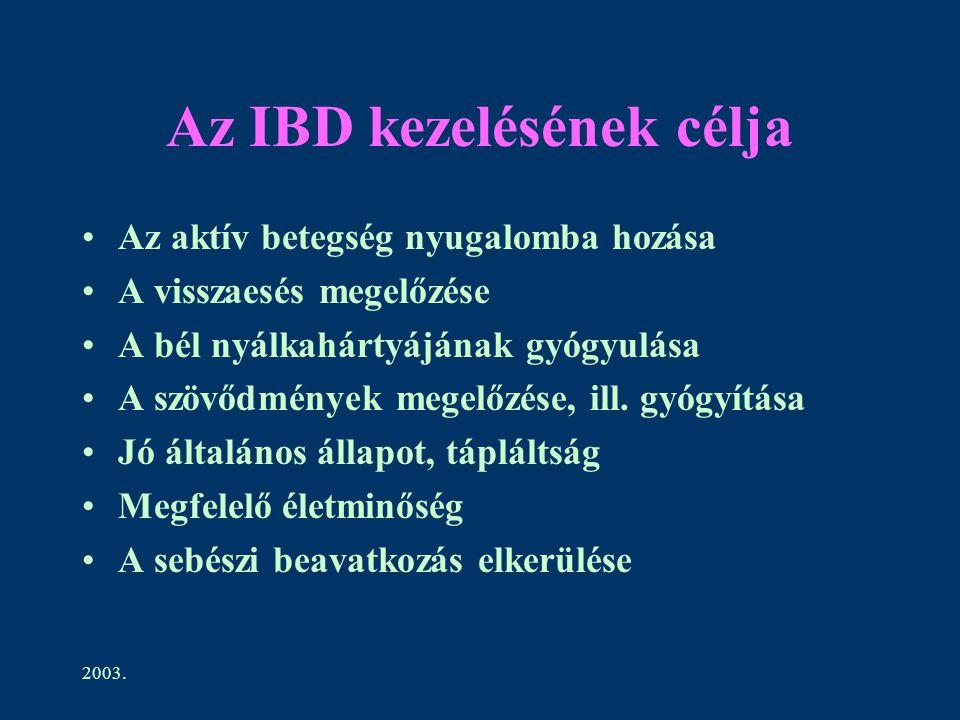 Az IBD kezelésének célja