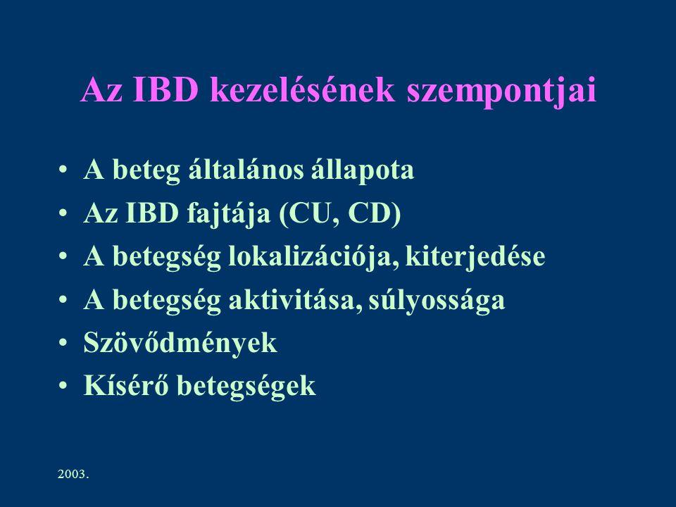 Az IBD kezelésének szempontjai
