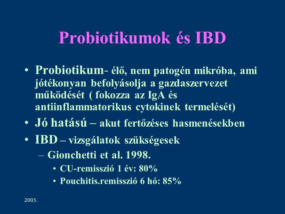 Probiotikumok és IBD