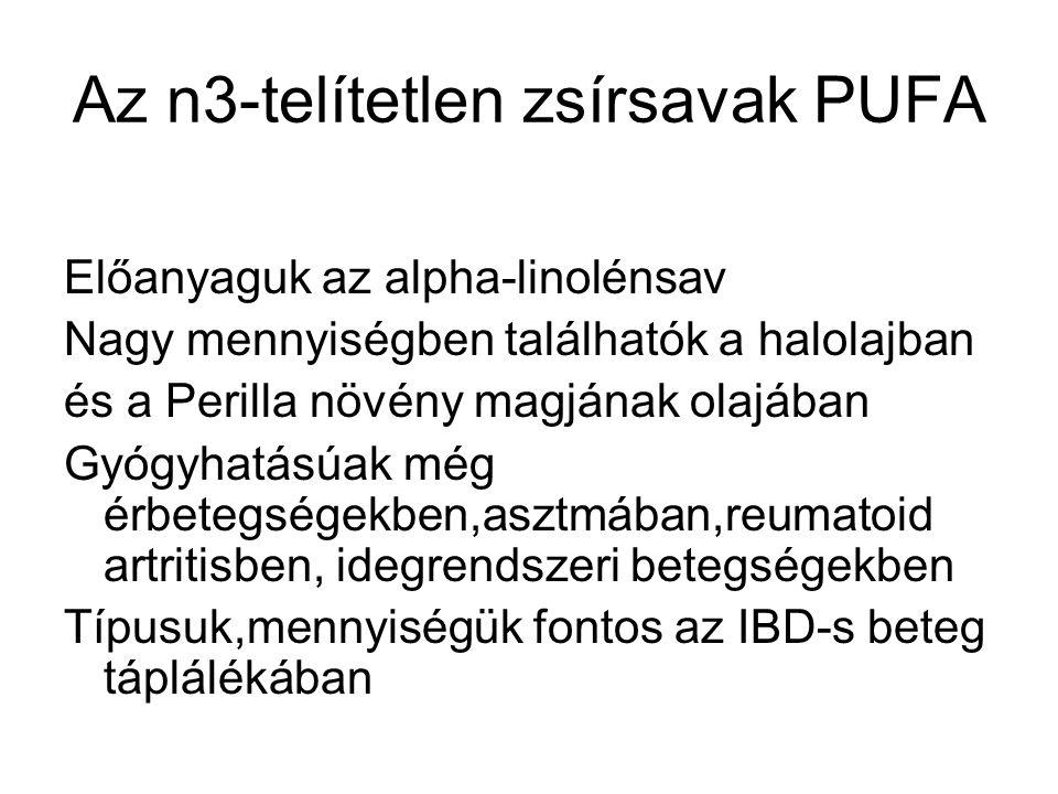 Az n3-telítetlen zsírsavak PUFA
