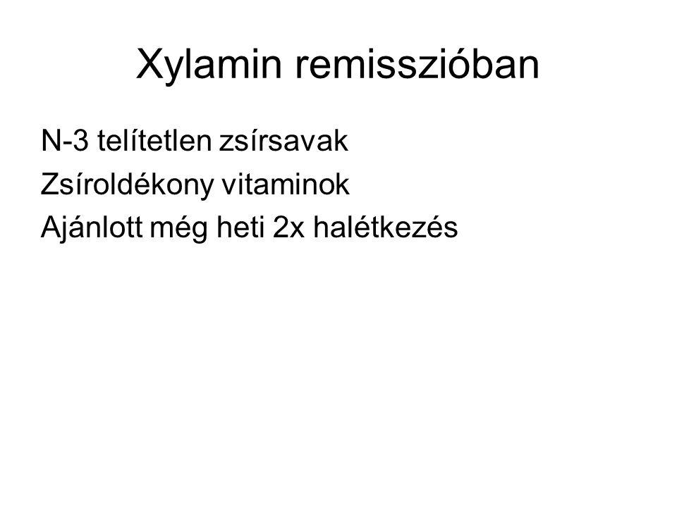 Xylamin remisszióban N-3 telítetlen zsírsavak Zsíroldékony vitaminok