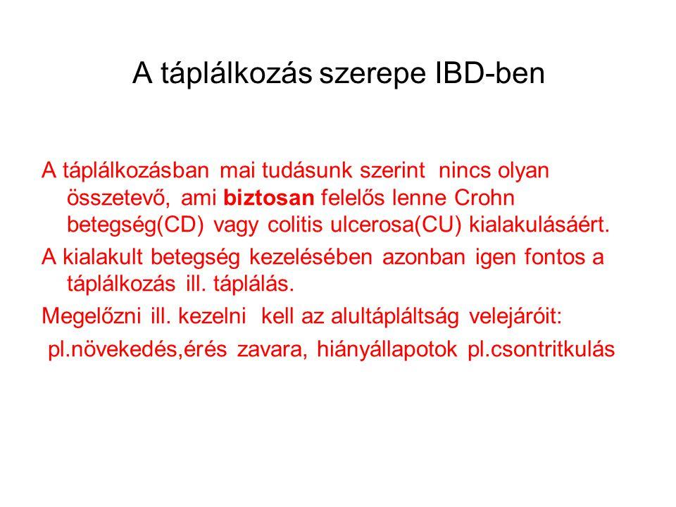 A táplálkozás szerepe IBD-ben