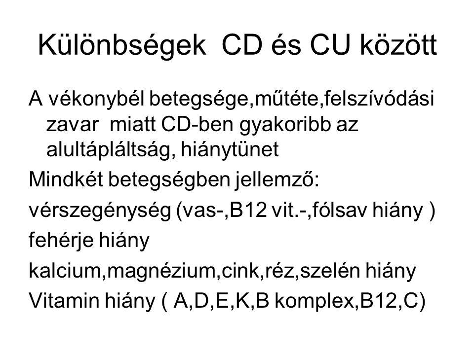 Különbségek CD és CU között