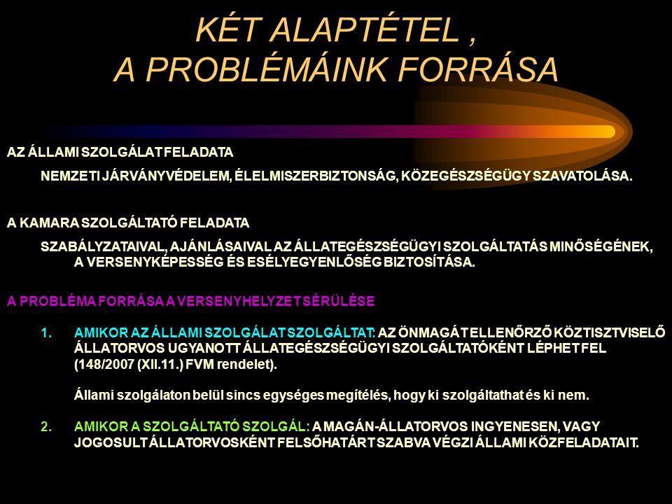 KÉT ALAPTÉTEL , A PROBLÉMÁINK FORRÁSA
