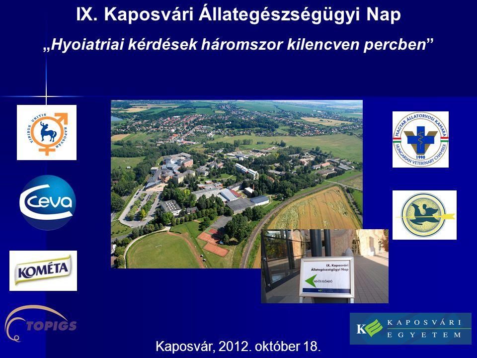 IX. Kaposvári Állategészségügyi Nap