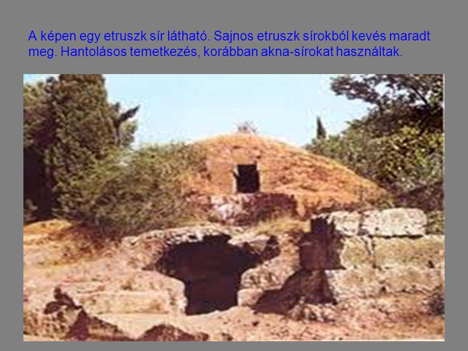 A képen egy etruszk sír látható