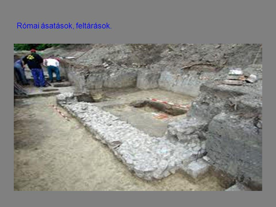 Római ásatások, feltárások.
