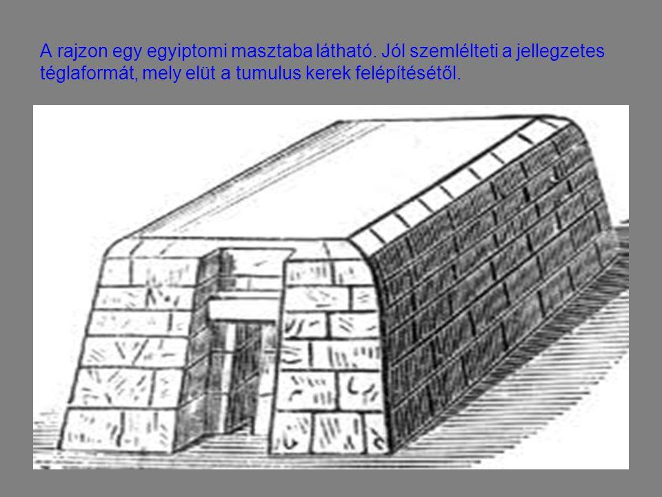 A rajzon egy egyiptomi masztaba látható