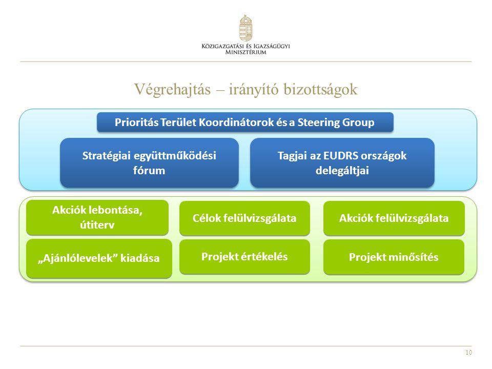 Végrehajtás – irányító bizottságok