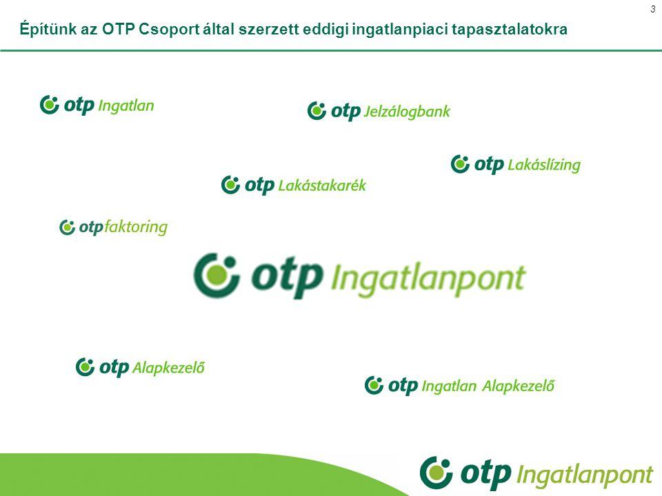 Építünk az OTP Csoport által szerzett eddigi ingatlanpiaci tapasztalatokra