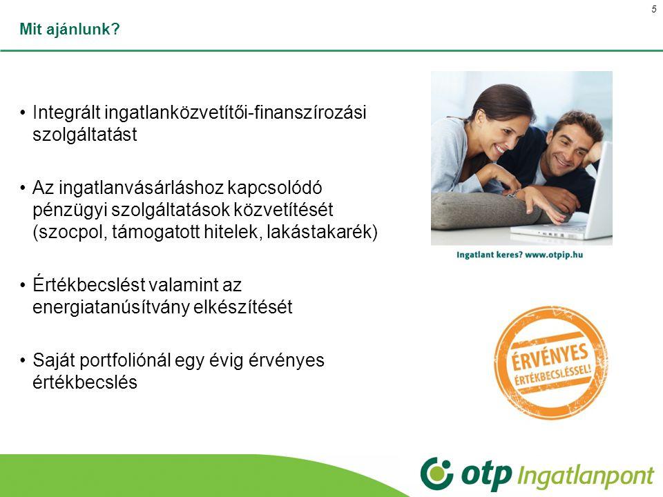 Integrált ingatlanközvetítői-finanszírozási szolgáltatást