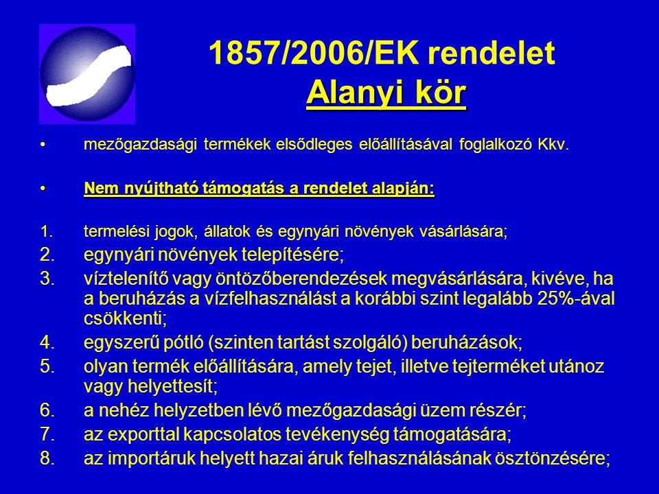 1857/2006/EK rendelet Alanyi kör