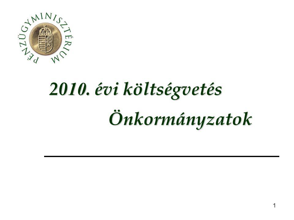 2010. évi költségvetés Önkormányzatok