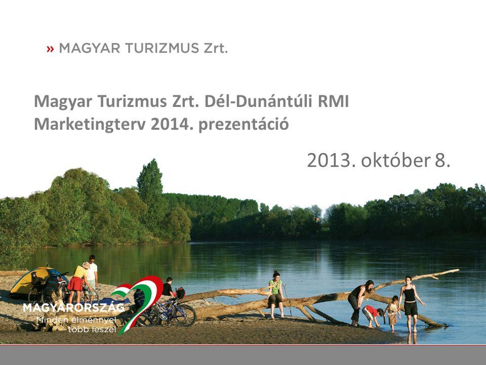 Magyar Turizmus Zrt. Dél-Dunántúli RMI Marketingterv 2014. prezentáció