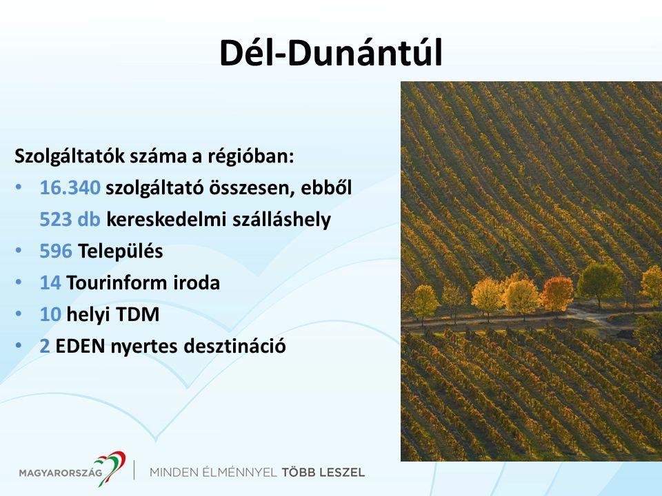 Dél-Dunántúl Szolgáltatók száma a régióban: