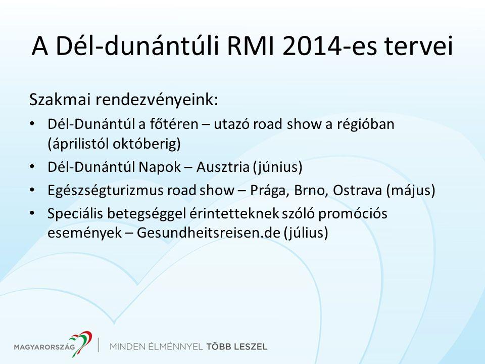 A Dél-dunántúli RMI 2014-es tervei