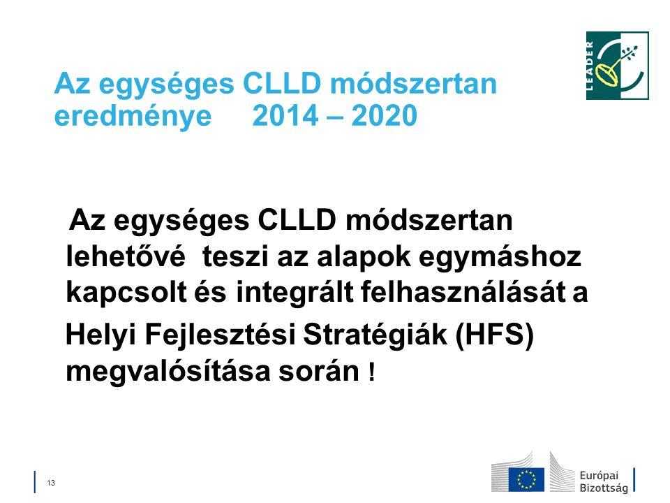 Az egységes CLLD módszertan eredménye 2014 – 2020