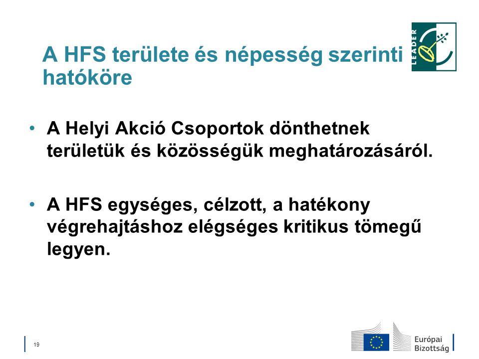 A HFS területe és népesség szerinti hatóköre