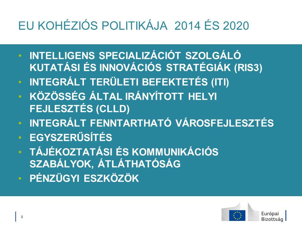 EU KOHÉZIÓS POLITIKÁJA 2014 ÉS 2020