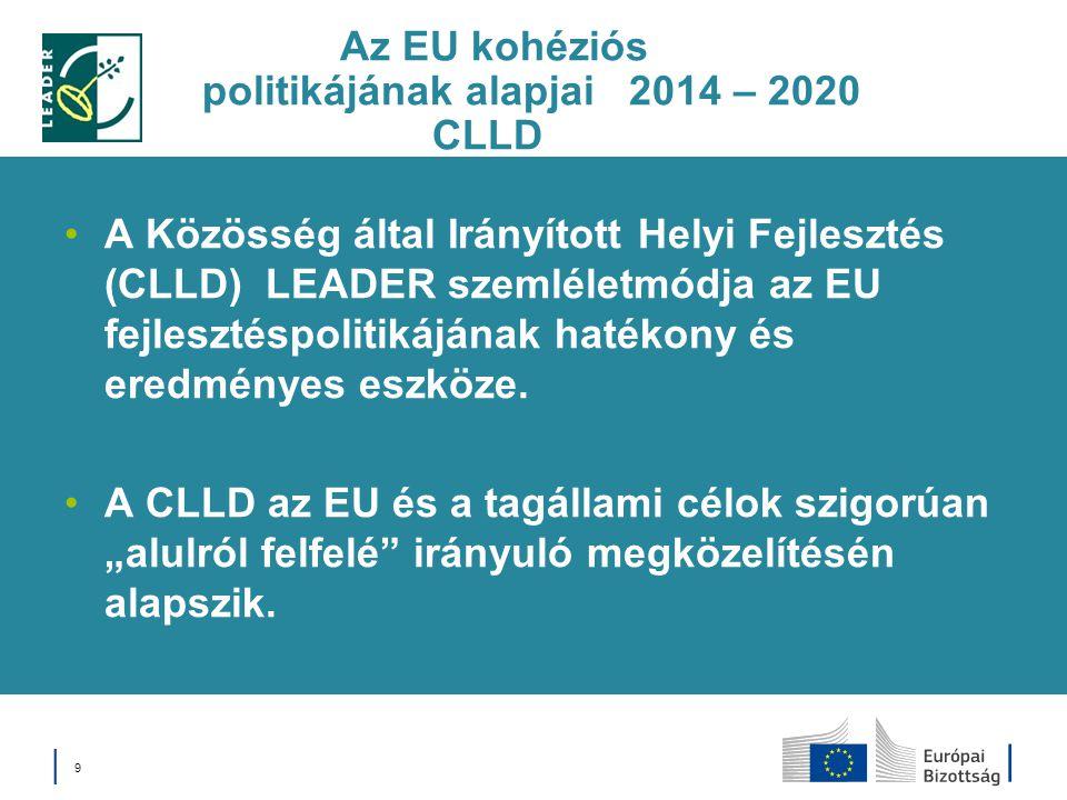 Az EU kohéziós politikájának alapjai 2014 – 2020 CLLD