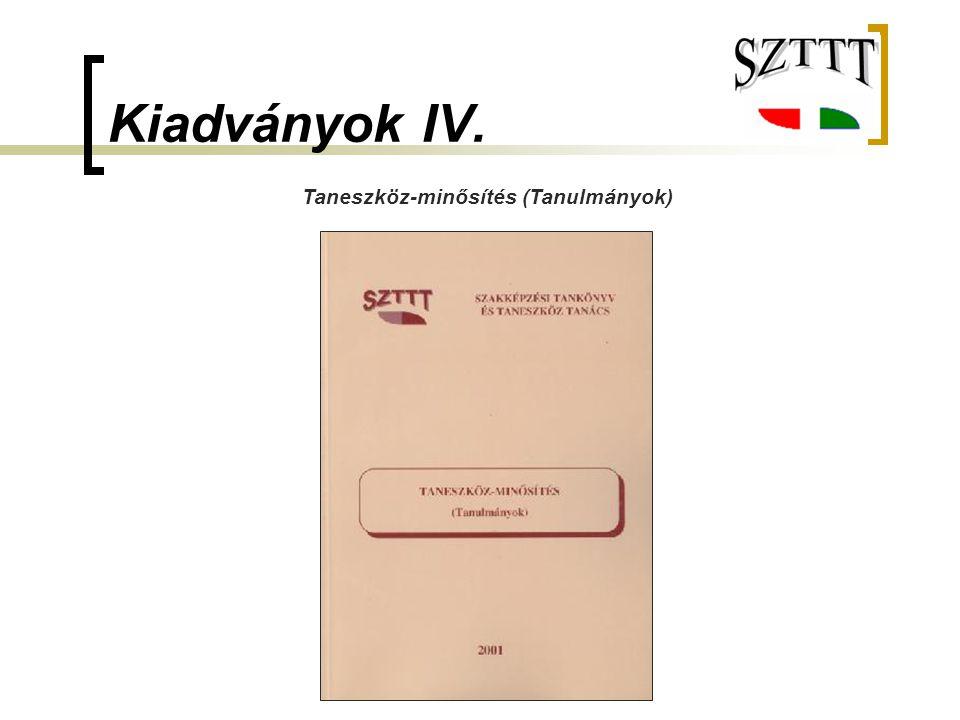 Taneszköz-minősítés (Tanulmányok)