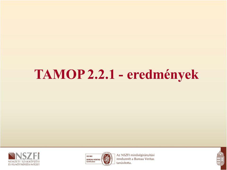 TAMOP 2.2.1 - eredmények