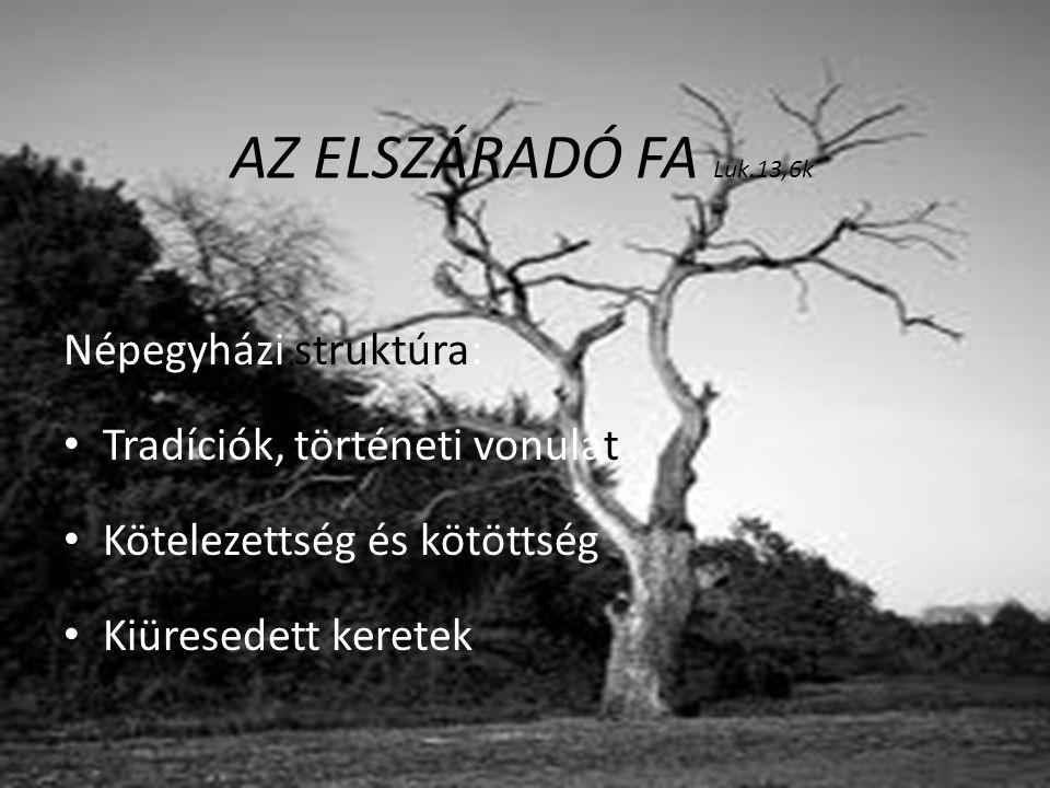 AZ ELSZÁRADÓ FA Luk.13,6k Népegyházi struktúra: