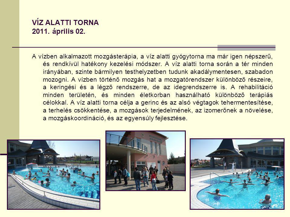 VÍZ ALATTI TORNA 2011. április 02.
