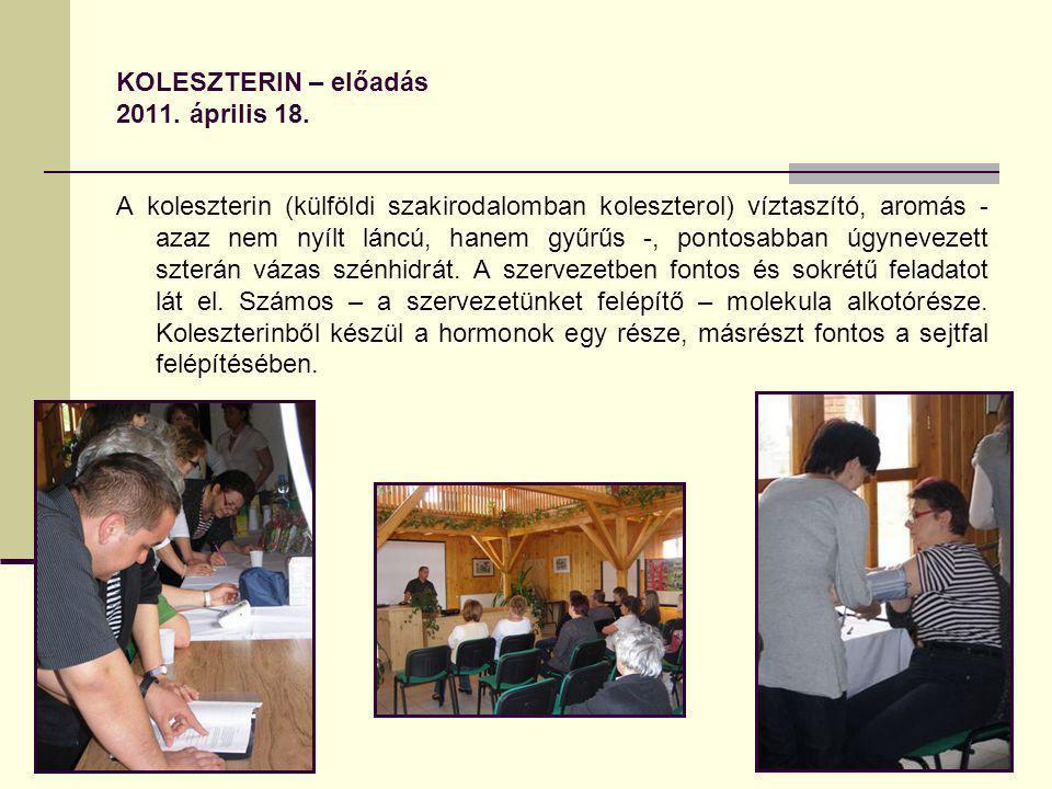 KOLESZTERIN – előadás 2011. április 18.