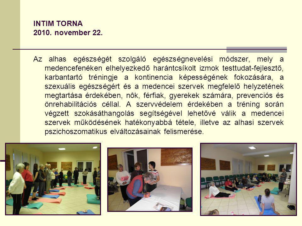 INTIM TORNA 2010. november 22.