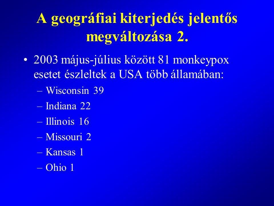 A geográfiai kiterjedés jelentős megváltozása 2.