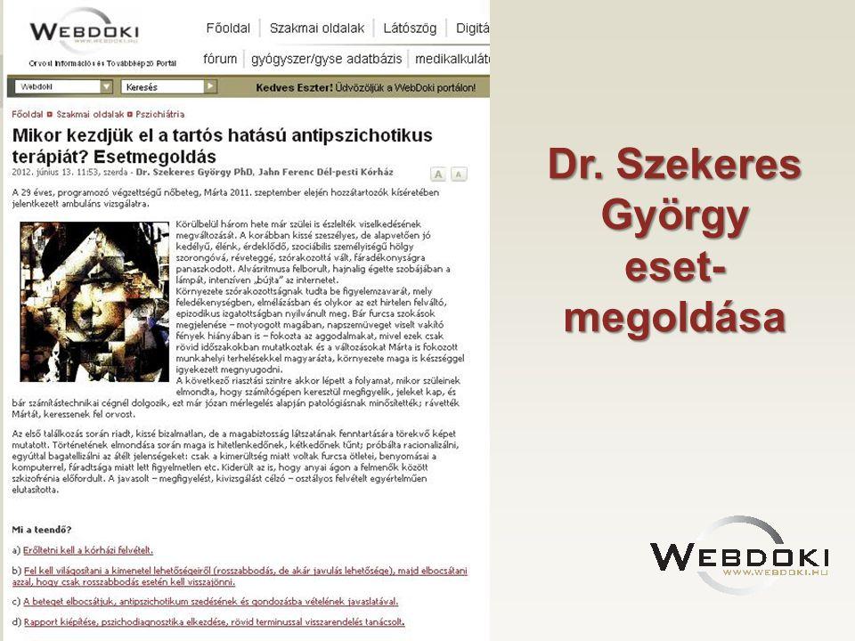 Dr. Szekeres György eset-megoldása