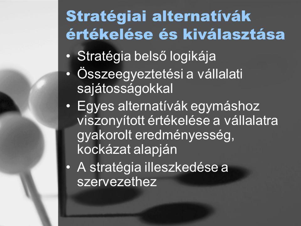 Stratégiai alternatívák értékelése és kiválasztása