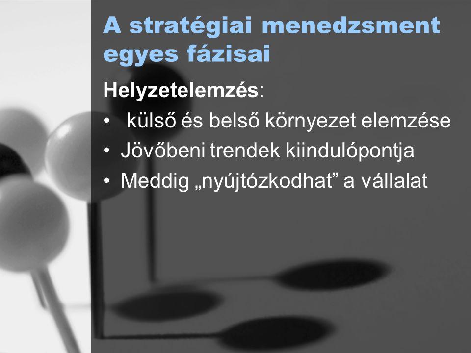 A stratégiai menedzsment egyes fázisai