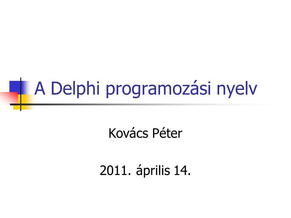 A Delphi programozási nyelv