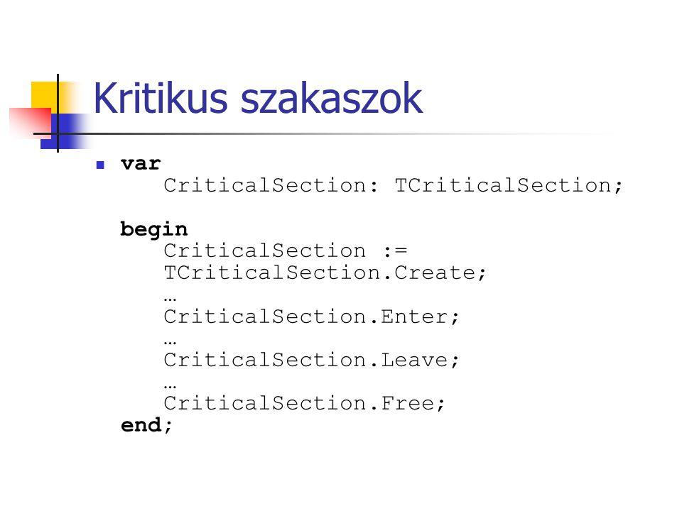 Kritikus szakaszok