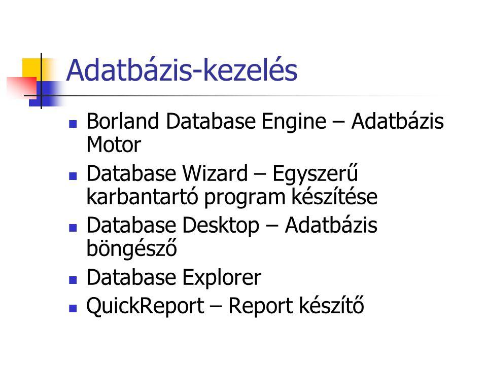 Adatbázis-kezelés Borland Database Engine – Adatbázis Motor