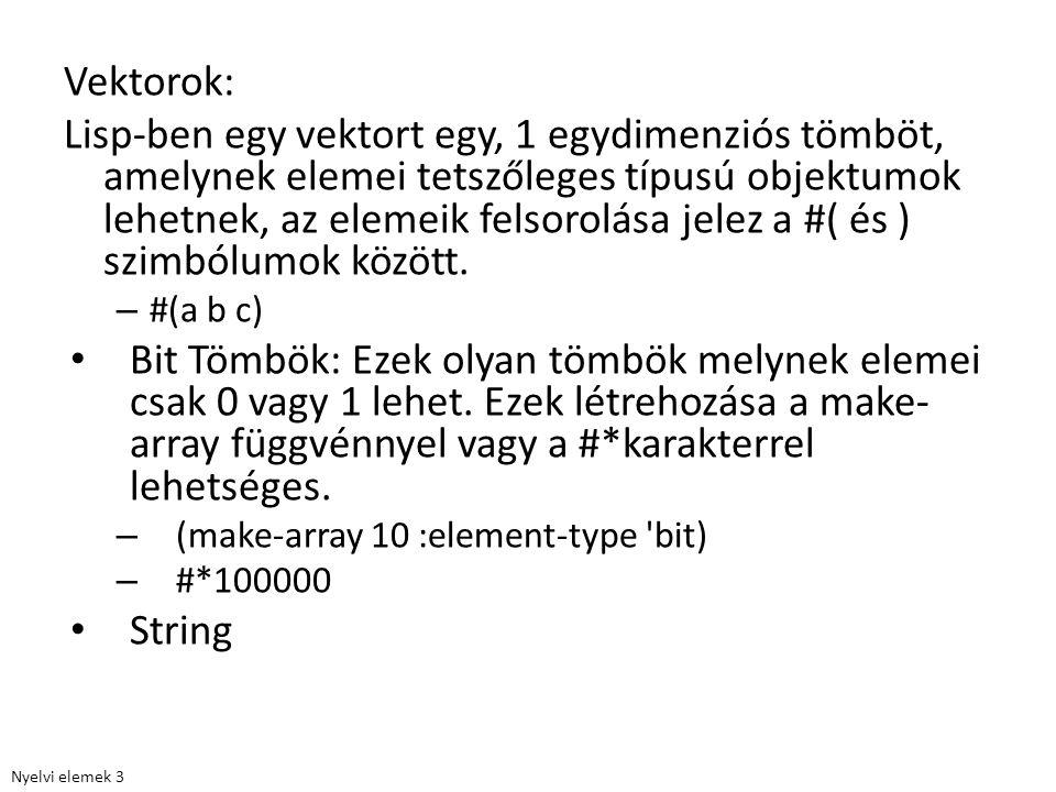 Vektorok: