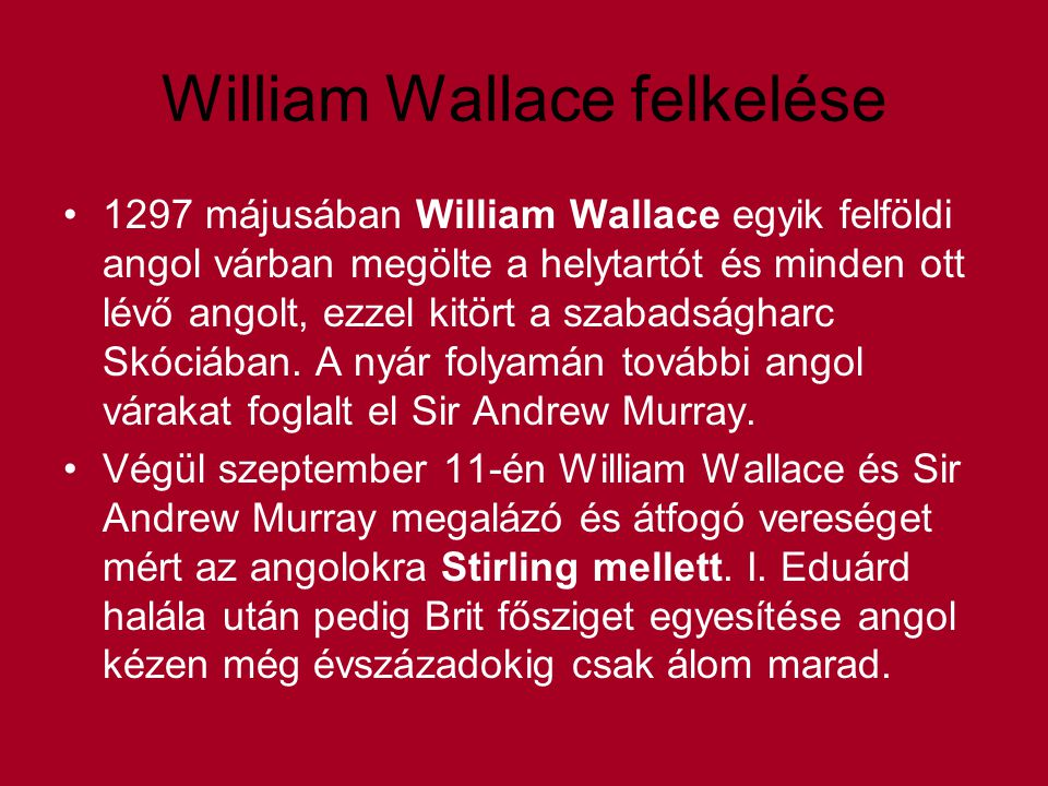 William Wallace felkelése